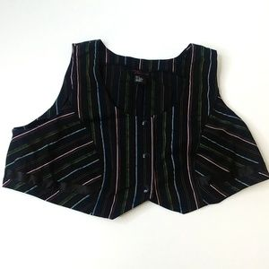 Torrid stripped vest size 4